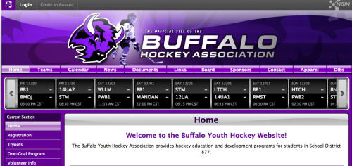 Buffalo Youth Hockey Association site.  Totally secure.