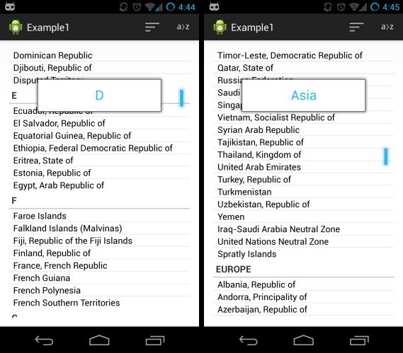 alphabetic sorting vs. continent sorting