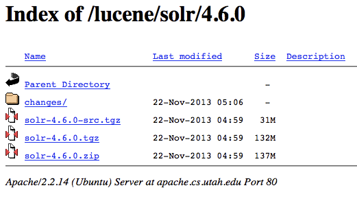Directory listing in Apache
